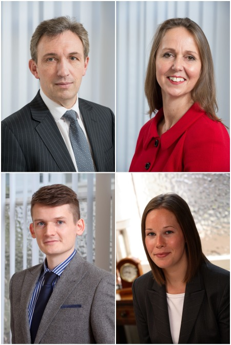 Top: Fraser Hardie & Gail Clark will be based in our Edinburgh office. Bottom: Ryan McKay and Joanne Grimmond will head up our offices in Aberdeen and Perth respectively.