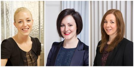 New Associates: Nicola McCafferty, Hazel Anderson and Karin Bousie